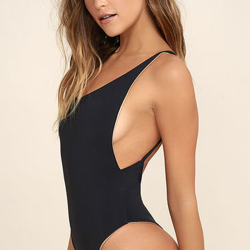 Arrow & Eve C.J. Parker Black Reversible One Piece Swimsuit