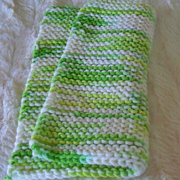 Hand crafted knit dish cloth-Key Lime Pie
