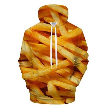 Fresh Fries All Over Print Hoodie Sweater