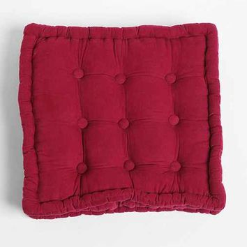 Tufted Corduroy Floor Pillow-