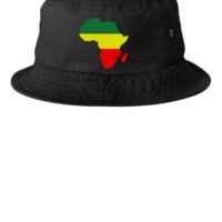 Africa embroidery snapback - Bucket Hat