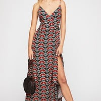Siren Wrap Maxi Dress