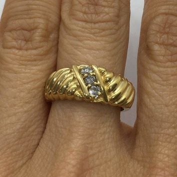 0.20 ctw Diamond Statement Ring in 14K Yellow Gold