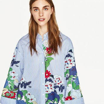 PRINTED TUNIC - View All-TOPS-WOMAN | ZARA United States