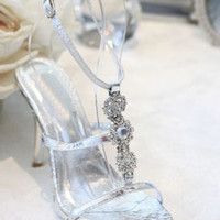 "Silver Shoes with 4"" heels and .75"" platform (Style 500-24)"