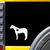 Standing Horse Decal Sticker *J476*