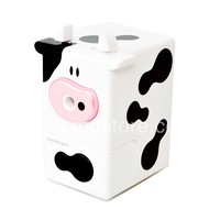 Cubic Milk Cow Pencil Sharpener