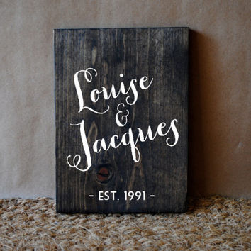 CUSTOM WEDDING QUOTE // Inspirational Quote Wooden Sign