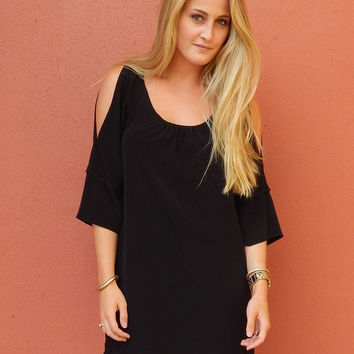 Split Shoulder Dress