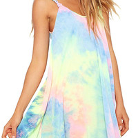 Swing Cami Dress In Tie Dye