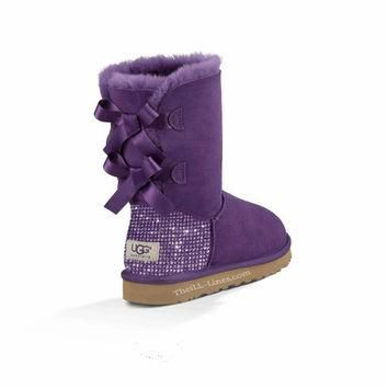 Custom Uggs, Purple Bailey Uggs, Bailey Bow Uggs, Uggs, Bling Uggs, Bedazzled Uggs, Pu