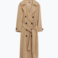 LONG CROSSOVER TRENCH COAT