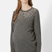 Women's Topshop 'Scatter' Embellished Maternity Sweater,