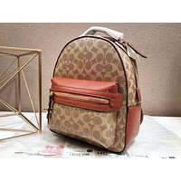 Coach fashion women's printed and color-coordinated backpacks are hot sellers
