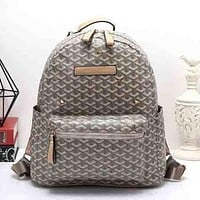 Perfect Goyard Women Leather Bookbag Shoulder Bag Handbag Backpack