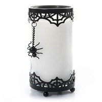 Wicked Web Spider Web Cuff Set : Pillar Candle Holder : Yankee Candle