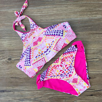 Summer Swimsuit New Arrival Hot Beach High Waist Bra Print Sexy Stylish Swimwear Bikini [10603735375]