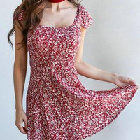 Streetstyle  Casual Fashion Sweet Lingering Splash Print Dress