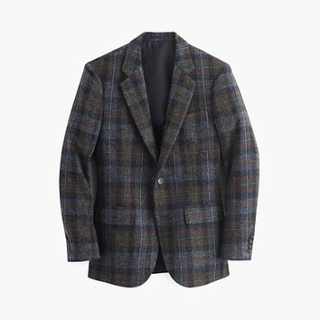 J.Crew Mens Ludlow Fielding Suit Jacket In Scottish Wool Tartan