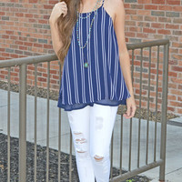 Fine Lines Striped Top