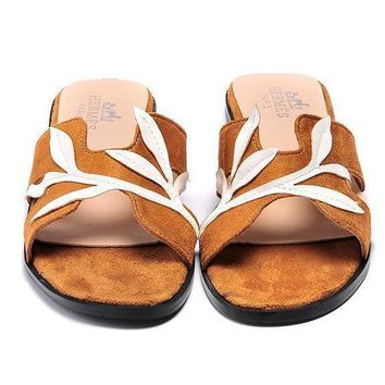 Hermes Women Rome Casual Slipper Sandals Shoes-1