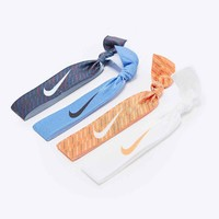 Nike Print Hairband 4-Pack in Blue and Orange - Urban Outfitters