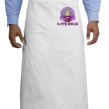 Happy Diwali Purple Candle Adult Bistro Apron by TooLoud