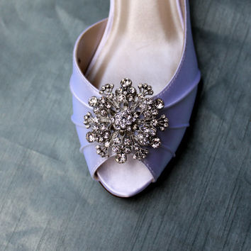Snowflake Wedding Shoes Low Heel - Wide shoes Available