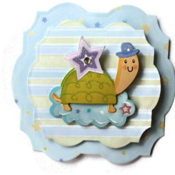 Baby, Turtle,  Scrapbook Embellishment, Paper piecing, gift tags, Scrapbooking Layouts, Cards, Mini Albums, brag book, Crafts, journal
