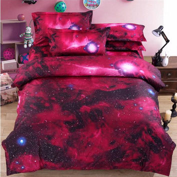Hipster Galaxy 3D Bedding Set