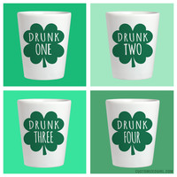 Drunk 1 St Patricks Shot Glass