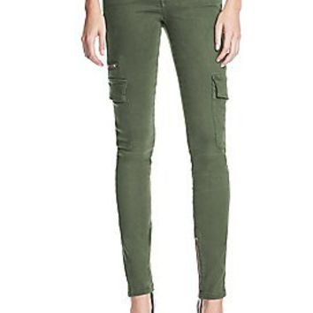 Cargo Skinny Jeans in Washed Dusty Olive | GUESS.com