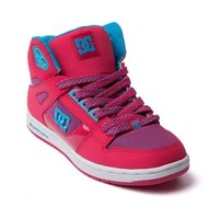 Womens DC Rebound Hi Skate Shoe, Pink, at Journeys Shoes