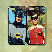 Batman and Robin Couple Cases iPhone 5, 5s, 5c, 4s, 4, ipod touch 4, 5, Samsung GS3 GS4-Silicone Rubber, Hard Plastic cover