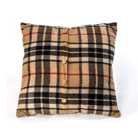"""20""""L X 4""""W X 20""""H BURBERRY STYLE PILLOW WITH FILLER"""