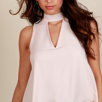 Open Heart Blouse Champagne