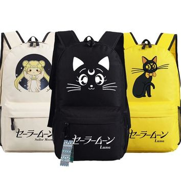 New Sailor Moon Backpack Anime luna oxford Schoolbags Fashion Unisex Travel Bag