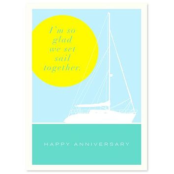 Sailboat Anniversary Card