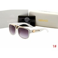 Versace Trending Women Men Stylish Shades Eyeglasses Glasses Sunglasses White 1# I12937-1