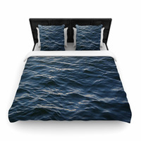"Suzanne Carter ""Deep Water"" Nautical Blue Woven Duvet Cover"