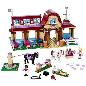 Legoings Friends For Girl Heartlake Riding Club Horse Stables Block Set Mia Stephanie Building  Toy Compatible with  41126