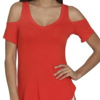 Arden B. Women's Cold Shoulder V-neck Tunic