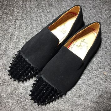 Cl Christian Louboutin Loafer Style #2336 Sneakers Fashion Shoes