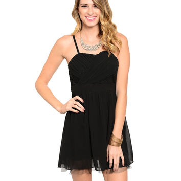 Spaghetti Strap Babydoll Cocktail Dress