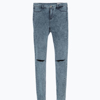 Snow wash jeggings
