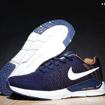 Nike LUNARGLIDE 16 tide brand fashion moon fly line running shoes F-SSRS-CJZX Blue
