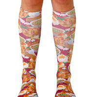 Thanksgiving Dinner Knee High Socks