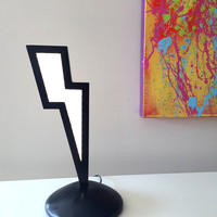 Graphic Lightning Bolt LED Accent Light