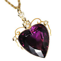 Heart of My Heart: Amethyst Pearl Pendant Necklace - The Three Graces