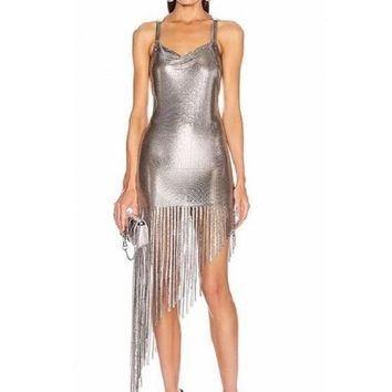 Metal Sultry Dress In 4 Colors